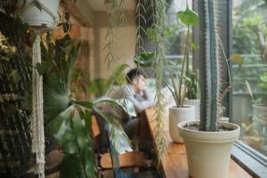 【台北】小巷中的 鹿境Plants 鹿角蕨 咖啡 甜點 植物 理髮廳